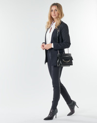 vaatteet Naiset 5-taskuiset housut Karl Lagerfeld PUNTO PANTS W/ LOGO TAPE Laivastonsininen / Black