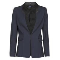 vaatteet Naiset Takit / Bleiserit Karl Lagerfeld PUNTO JACKET W/ SATIN LAPEL Laivastonsininen / Musta