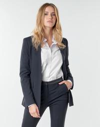 vaatteet Naiset Takit / Bleiserit Karl Lagerfeld PUNTO JACKET W/ SATIN LAPEL Laivastonsininen / Black