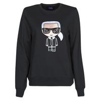 vaatteet Naiset Svetari Karl Lagerfeld IKONIK KARL SWEATSHIRT Black
