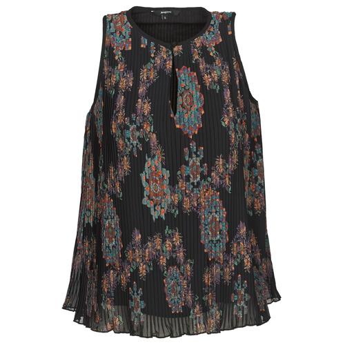 vaatteet Naiset Hihattomat paidat / Hihattomat t-paidat Desigual MIRA Blue