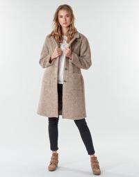 vaatteet Naiset Paksu takki Cream AMELIA COAT Beige