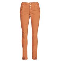 vaatteet Naiset 5-taskuiset housut Cream HOLLY CR TWILL Ruskea
