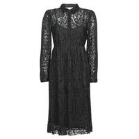 vaatteet Naiset Lyhyt mekko Cream ALICIA DRESS Musta