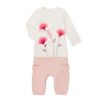 vaatteet Tytöt Kokonaisuus Catimini CR36001-11 Valkoinen / Vaaleanpunainen