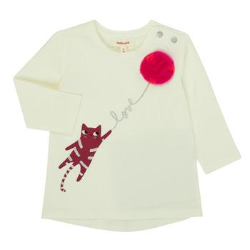 vaatteet Tytöt T-paidat pitkillä hihoilla Catimini CR10063-11 Vaaleanpunainen