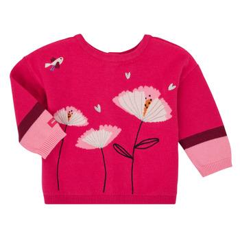 vaatteet Tytöt Neuleet / Villatakit Catimini CR18033-35 Vaaleanpunainen
