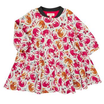 vaatteet Tytöt Lyhyt mekko Catimini CR30093-35 Monivärinen