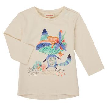 vaatteet Tytöt T-paidat pitkillä hihoilla Catimini CR10053-12 Valkoinen