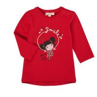 vaatteet Tytöt T-paidat pitkillä hihoilla Catimini CR10043-38 Red