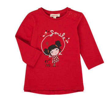 vaatteet Tytöt T-paidat pitkillä hihoilla Catimini CR10043-38 Punainen