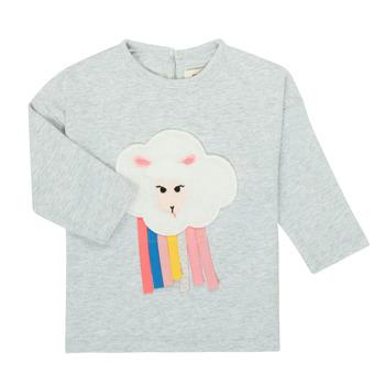 vaatteet Tytöt T-paidat pitkillä hihoilla Catimini CR10093-21 Harmaa