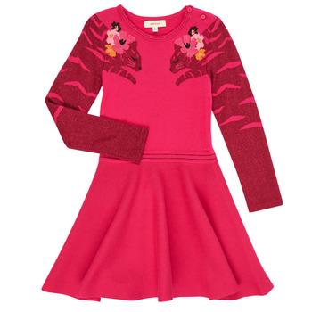 vaatteet Tytöt Lyhyt mekko Catimini CR30085-35 Vaaleanpunainen