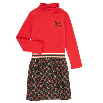 vaatteet Tytöt Lyhyt mekko Catimini CR30035-38-C Monivärinen