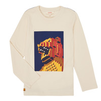 vaatteet Pojat T-paidat pitkillä hihoilla Catimini CR10064-17-C Valkoinen