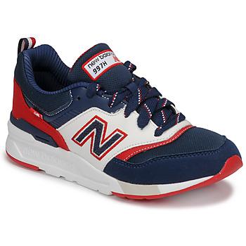 kengät Pojat Matalavartiset tennarit New Balance 997 Blue / White / Red