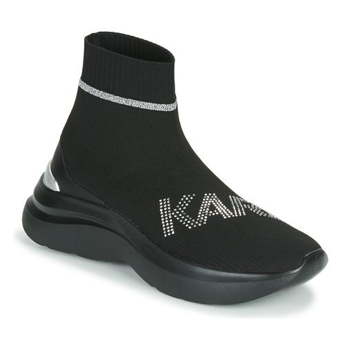 kengät Naiset Korkeavartiset tennarit Karl Lagerfeld SKYLINE KARL RHINESTONE PULL ON BT Musta