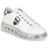 kengät Naiset Matalavartiset tennarit Karl Lagerfeld KAPRI KUSHION KARL IKONIC LO LACE Valkoinen / Hopea