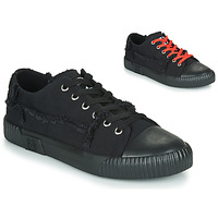 kengät Matalavartiset tennarit TUK RUBBER TOE ROUGHCUT SNEAKER CANVAS Black