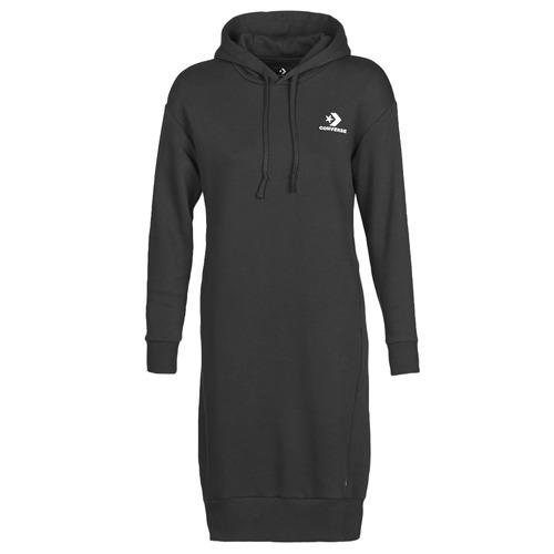 vaatteet Naiset Lyhyt mekko Converse CONVERSE STAR CHEVRON EMB LONG DRESS Black