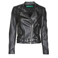 vaatteet Naiset Nahkatakit / Tekonahkatakit Benetton 2ALB53673 Black