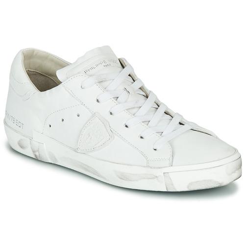kengät Naiset Matalavartiset tennarit Philippe Model PARIS X BASIC White