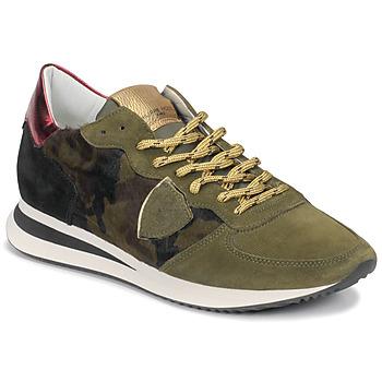 kengät Naiset Matalavartiset tennarit Philippe Model TROPEZ Camouflage