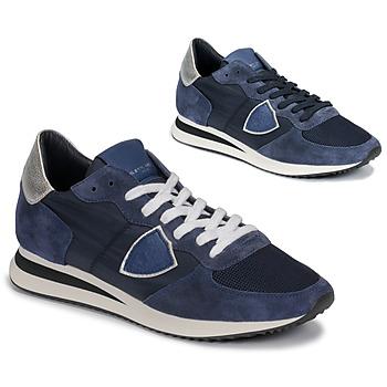 kengät Naiset Matalavartiset tennarit Philippe Model TROPEZ Laivastonsininen