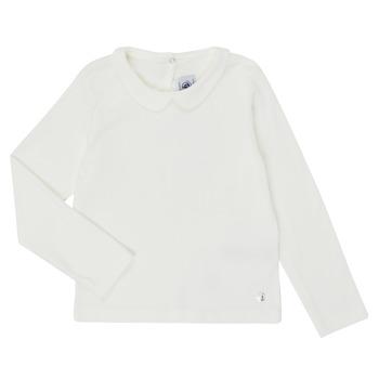 vaatteet Tytöt T-paidat pitkillä hihoilla Petit Bateau LOVING White