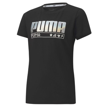 vaatteet Tytöt Lyhythihainen t-paita Puma ALPHA TEE 165 Musta