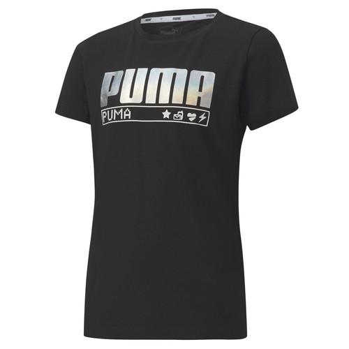 vaatteet Tytöt Lyhythihainen t-paita Puma ALPHA TEE 165 Black