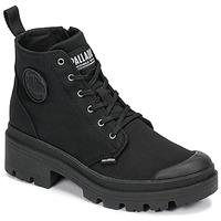 kengät Naiset Bootsit Palladium PALLABASE TWILL Musta