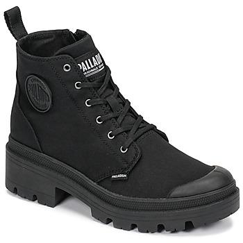 kengät Naiset Bootsit Palladium PALLABASE TWILL Black