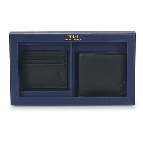 laukut Miehet Lompakot Polo Ralph Lauren Billfold & CardCase Gift Set Musta