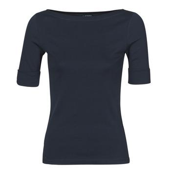 vaatteet Naiset T-paidat pitkillä hihoilla Lauren Ralph Lauren JUDY Laivastonsininen