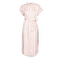 vaatteet Naiset Pitkä mekko Lauren Ralph Lauren CICERO White / Pink