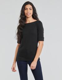 vaatteet Naiset T-paidat pitkillä hihoilla Lauren Ralph Lauren JUDY Black