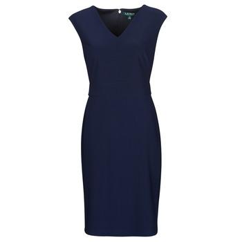vaatteet Naiset Lyhyt mekko Lauren Ralph Lauren JANNETTE Laivastonsininen