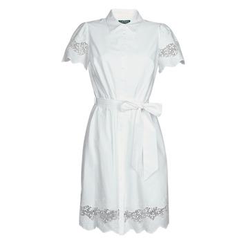 vaatteet Naiset Lyhyt mekko Lauren Ralph Lauren DORTHIA White