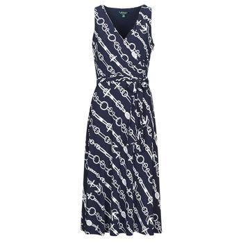 vaatteet Naiset Pitkä mekko Lauren Ralph Lauren CARANA Laivastonsininen