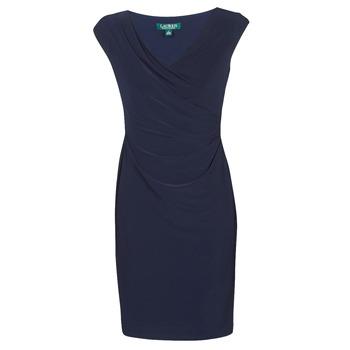 vaatteet Naiset Lyhyt mekko Lauren Ralph Lauren BRANDIE Laivastonsininen