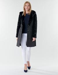 vaatteet Naiset Paksu takki Lauren Ralph Lauren COMBO FX SH-COAT Black