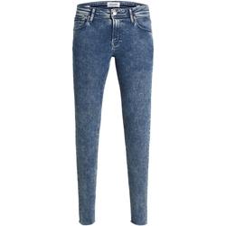 vaatteet Miehet Skinny-farkut Jack & Jones 12163468 JJITOM JJORIGINAL JOS 223 50SPS TC120 Azul oscuro