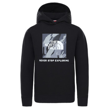 vaatteet Pojat Svetari The North Face NEW BOX CREW HODDIE Black
