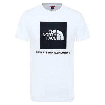 vaatteet Lapset Lyhythihainen t-paita The North Face BOX TEE SUMMIT White