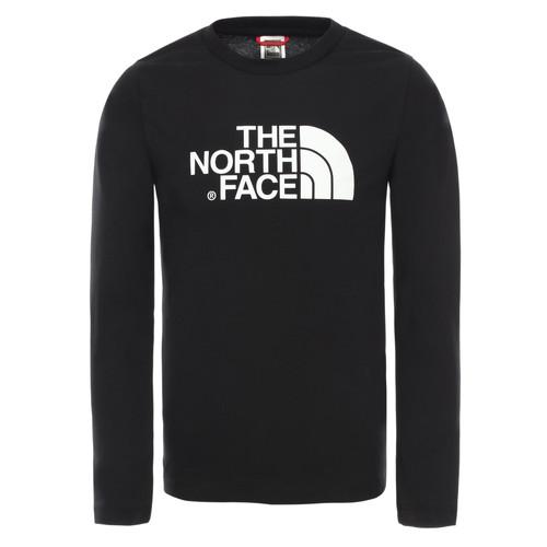 vaatteet Pojat T-paidat pitkillä hihoilla The North Face EASY TEE LS Black