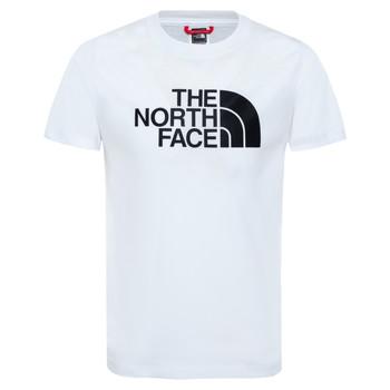 vaatteet Pojat Lyhythihainen t-paita The North Face EASY TEE White