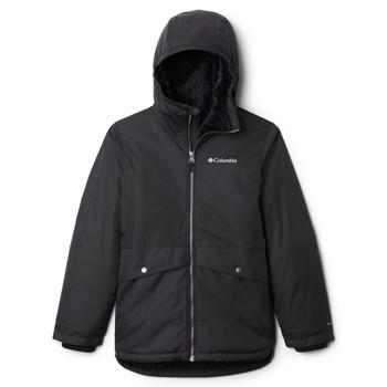 vaatteet Tytöt Parkatakki Columbia PORTEAU COVE MID JACKET Black