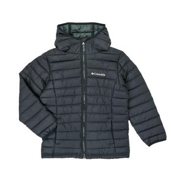 vaatteet Pojat Toppatakki Columbia POWDER LITE HOODED JACKET Black
