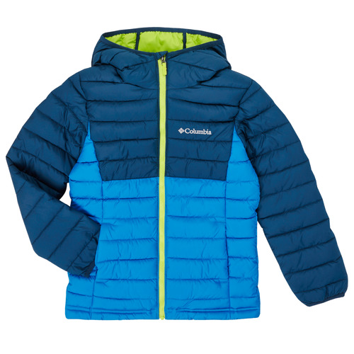 vaatteet Pojat Toppatakki Columbia POWDER LITE HOODED JACKET Blue